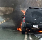 UPDATED: Car Destroyed by Fire in Port Howe